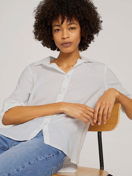 Bluse mit Kontraststreifen - Frauen - White - 5 - Mine to five