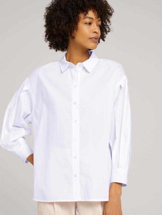 Hemdbluse mit Faltenärmeln - Frauen - White - 5 - Mine to five