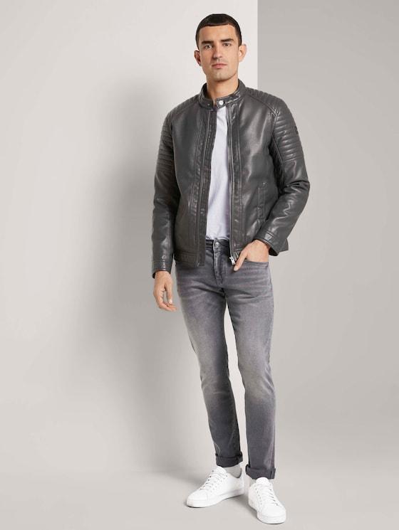 Troy Slim Jeans - Männer - clean mid stone grey denim - 3 - TOM TAILOR