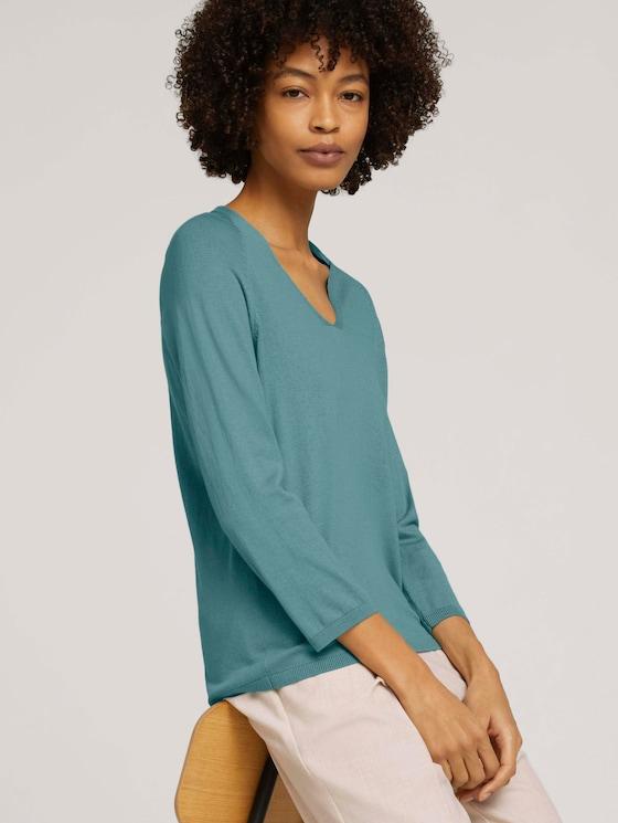 Pullover mit Bio-Baumwolle  - Frauen - Mineral Stone Blue - 5 - Mine to five