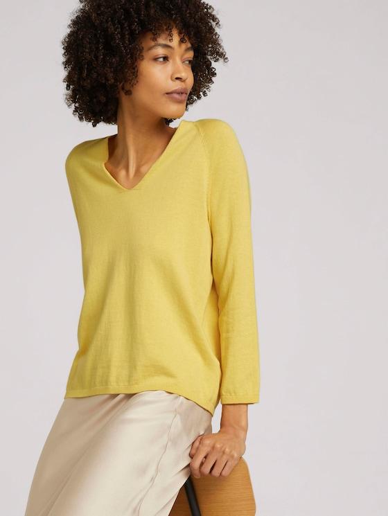 Pullover mit Bio-Baumwolle  - Frauen - mellow yellow - 5 - Mine to five