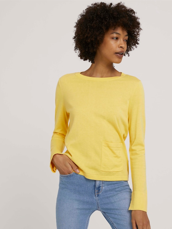 Weicher Pullover mit Bio-Baumwolle - Frauen - mellow yellow - 5 - Mine to five