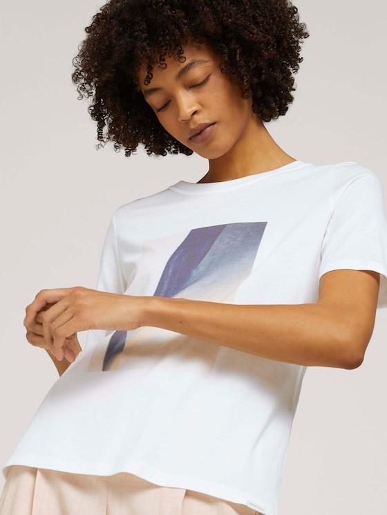 T-Shirt mit Print - Frauen - Whisper White - 5 - Mine to five