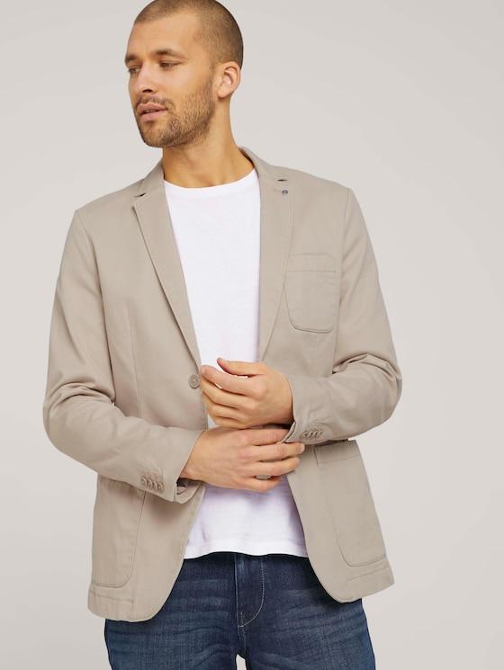 blazer made with organic cotton  - Men - sandy dust beige - 5 - TOM TAILOR
