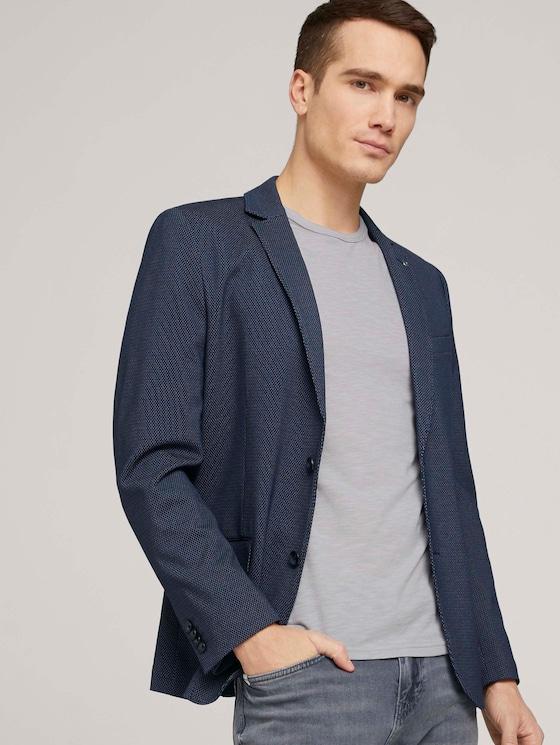 Jersey-Sakko - Männer - knitted blue pattern - 5 - TOM TAILOR