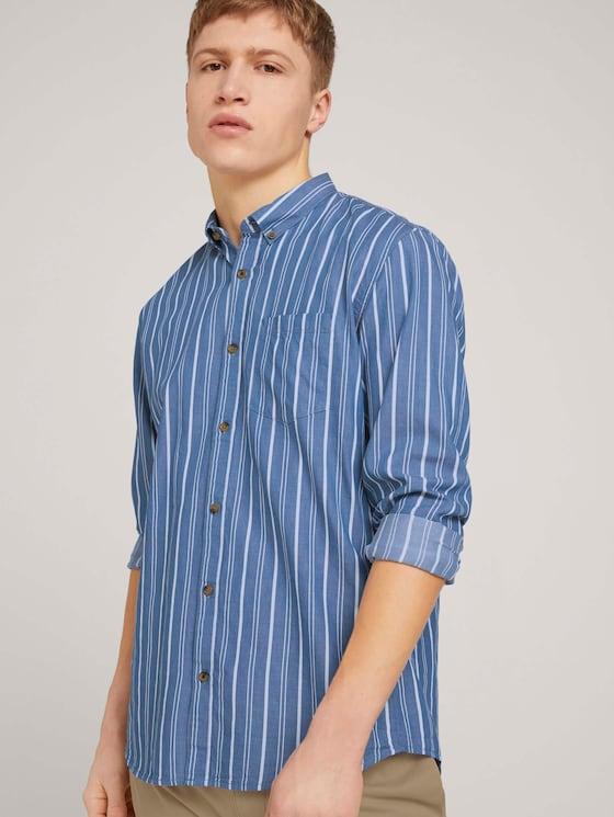 gestreiftes Hemd - Männer - blue irregular bold stripe - 5 - TOM TAILOR Denim