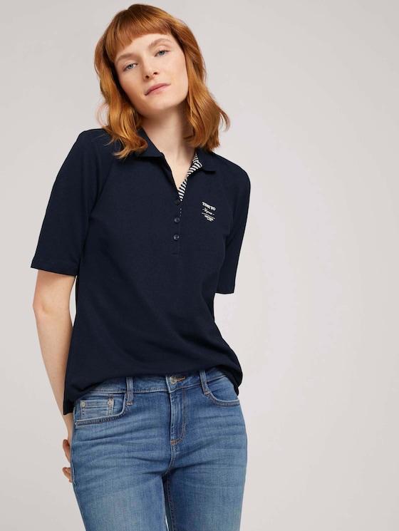Poloshirt mit Bio-Baumwolle  - Frauen - Sky Captain Blue - 5 - TOM TAILOR
