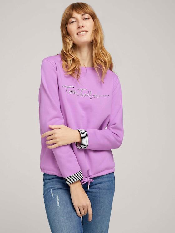 Sweatshirt mit Bio-Baumwolle  - Frauen - heather lilac - 5 - TOM TAILOR