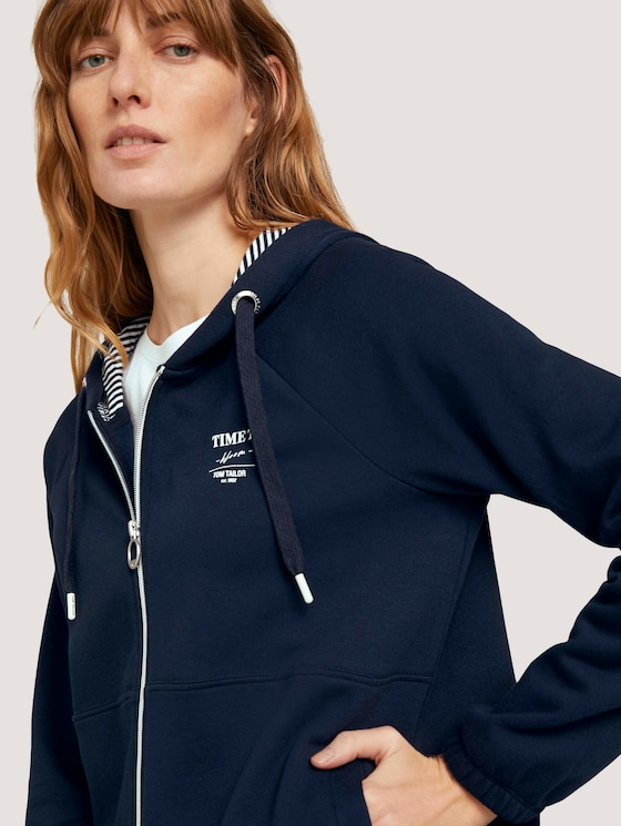 Sweatjacke mit Bio-Baumwolle   - Frauen - Sky Captain Blue - 9 - TOM TAILOR