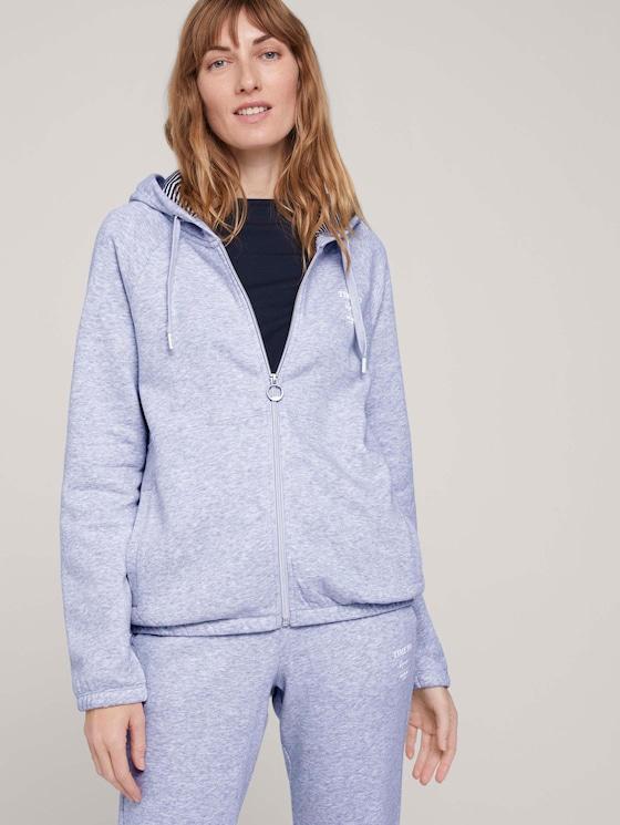 Sweatjacke mit Bio-Baumwolle  - Frauen - comfort grey melange - 5 - TOM TAILOR