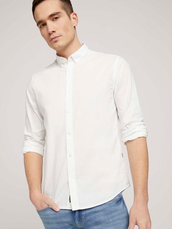 Hemd mit Bio-Baumwolle  - Männer - White - 5 - TOM TAILOR
