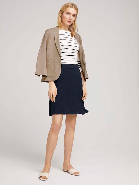 Flared jersey skirt - Women - Sky Captain Blue - 3 - TOM TAILOR