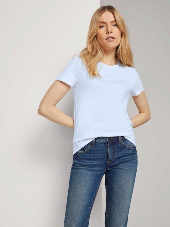 Basic T-Shirt aus Modalgemisch - Frauen - White - 5 - TOM TAILOR