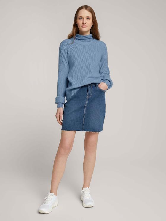 Mini Jeansrock - Frauen - Used Mid Stone Blue Denim - 3 - TOM TAILOR Denim