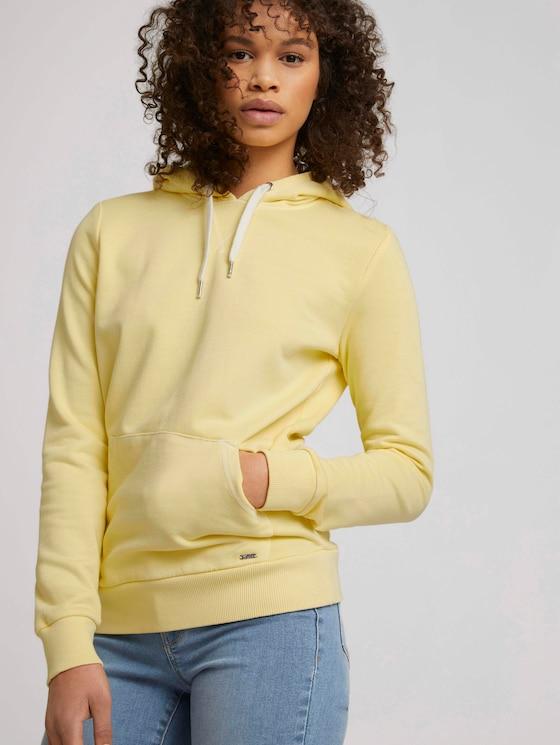 Basic Hoodie - Frauen - soft yellow - 5 - TOM TAILOR Denim