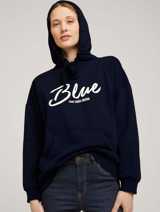 Hoodie mit Bio-Baumwolle   - Frauen - Sky Captain Blue - 5 - TOM TAILOR Denim