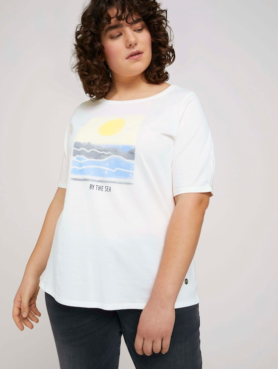T-Shirt aus Bio-Baumwolle - Frauen - Whisper White - 5 - My True Me