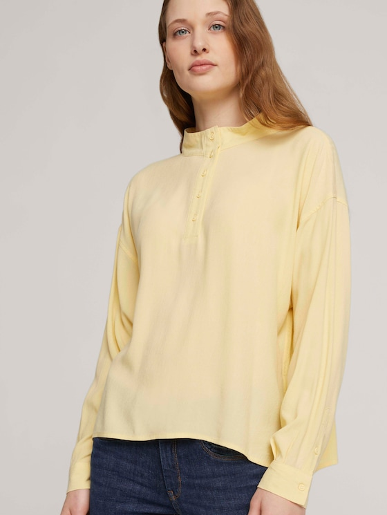 fließende Tunikabluse mit Lyocell - Frauen - soft yellow - 5 - TOM TAILOR Denim