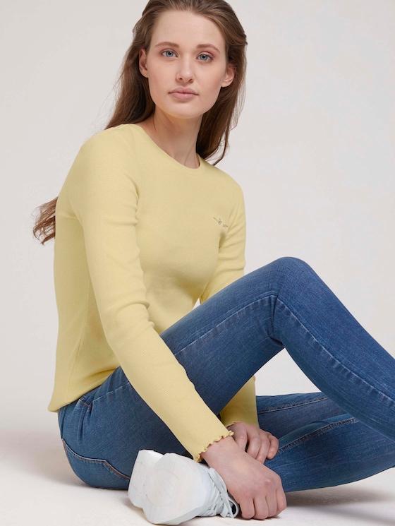 Langarmshirt - Frauen - soft yellow - 5 - TOM TAILOR Denim
