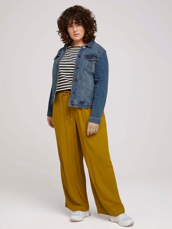 Curvy - Weite Stoffhose mit elastischem Bund - Frauen - California Umber - 3 - My True Me