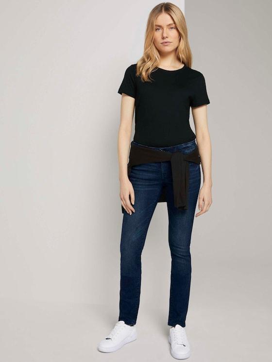 Alexa Slim Jeans in leichter Waschung - Frauen - dark stone wash denim - 3 - TOM TAILOR