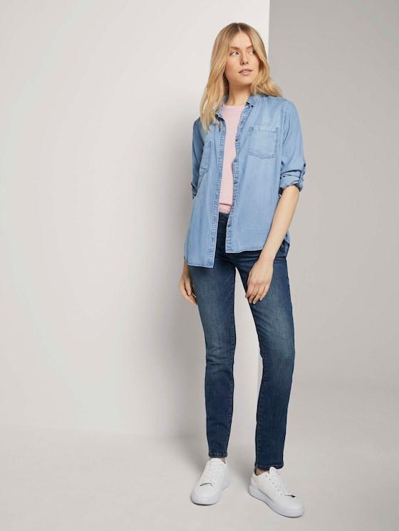 Alexa slanke jeans in lichte wassing - Vrouwen - stone wash denim - 3 - TOM TAILOR