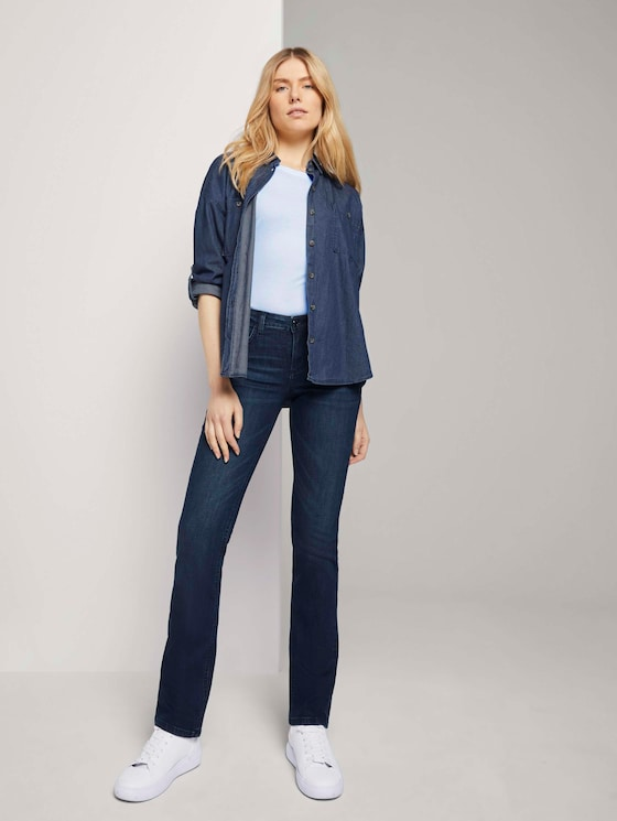 Alexa Straight Jeans - Frauen - dark stone wash denim - 3 - TOM TAILOR