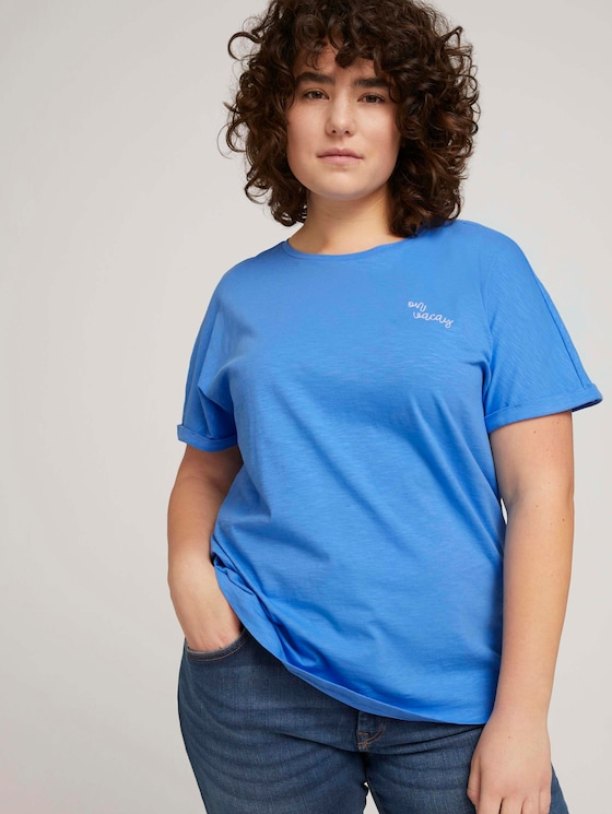 T-shirt made with organic cotton  - Women - airblue - 5 - My True Me