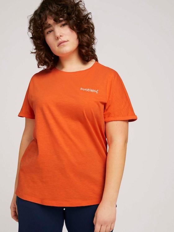 T-Shirt mit Bio-Baumwolle  - Frauen - sundowner red - 5 - My True Me