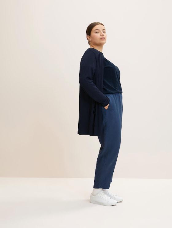 Plus - Shirt Cardigan mit LENZING™ ECOVERO™ und Taschen - Frauen - Sky Captain Blue - 5 - My True Me