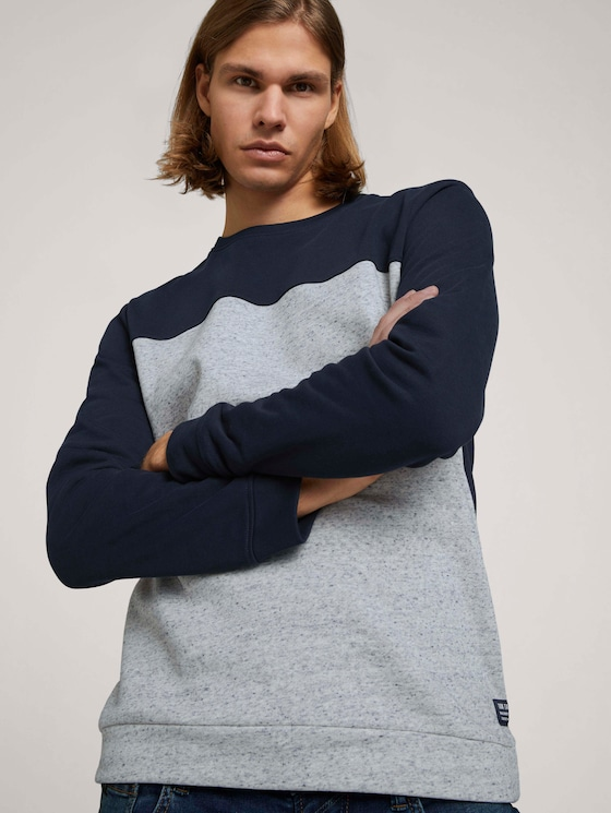 Sweatshirt mit Bündchen - Männer - Sky Captain Blue - 5 - TOM TAILOR Denim