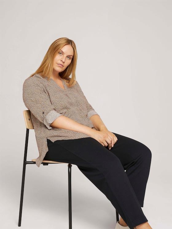 Pleated blouse - Women - multicolor dot design - 5 - My True Me