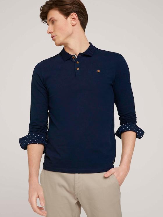 Poloshirt mit Bio-Baumwolle  - Männer - Dark Blue - 5 - TOM TAILOR