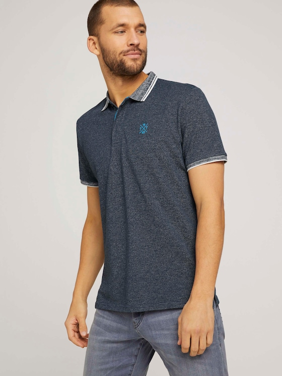 Poloshirt mit Logoprint - Männer - Dark Blue - 5 - TOM TAILOR