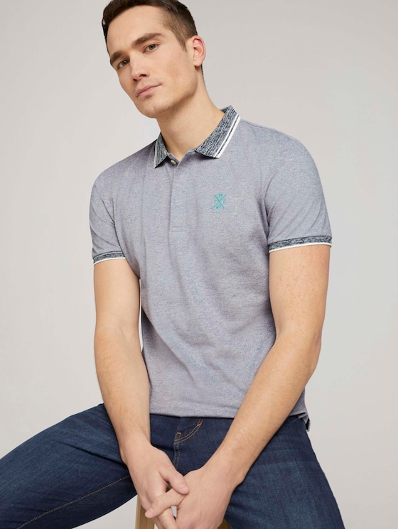 Poloshirt mit Logoprint - Männer - Off White - 5 - TOM TAILOR