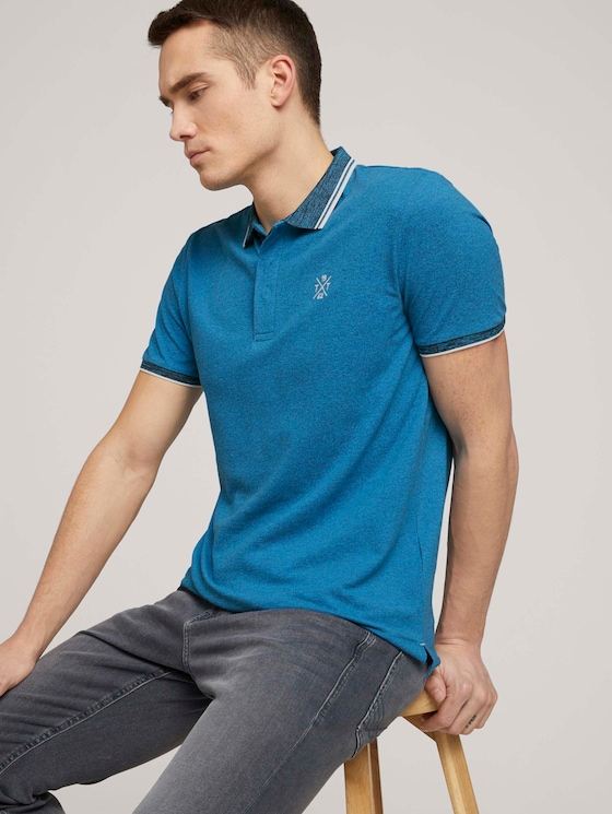 Poloshirt mit Logoprint - Männer - bright ibiza blue - 5 - TOM TAILOR