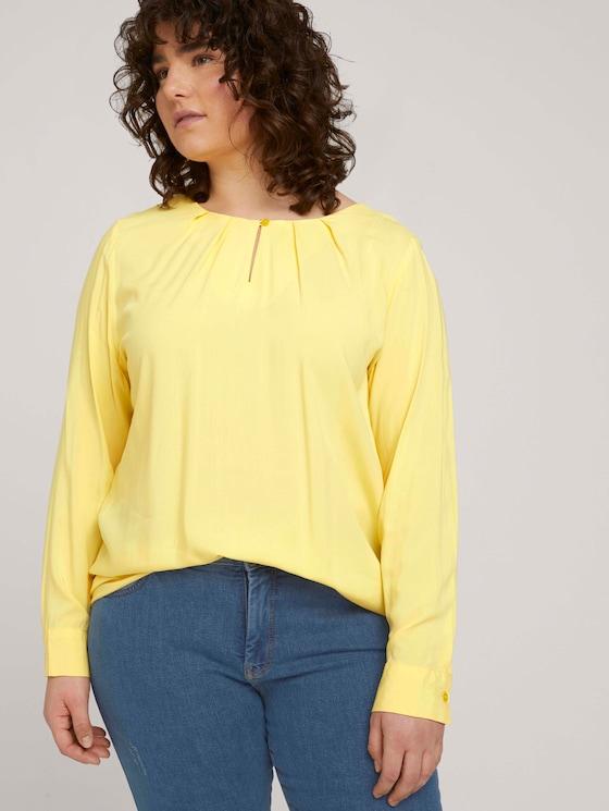 Bluse mit Faltendetails - Frauen - mellow yellow - 5 - My True Me