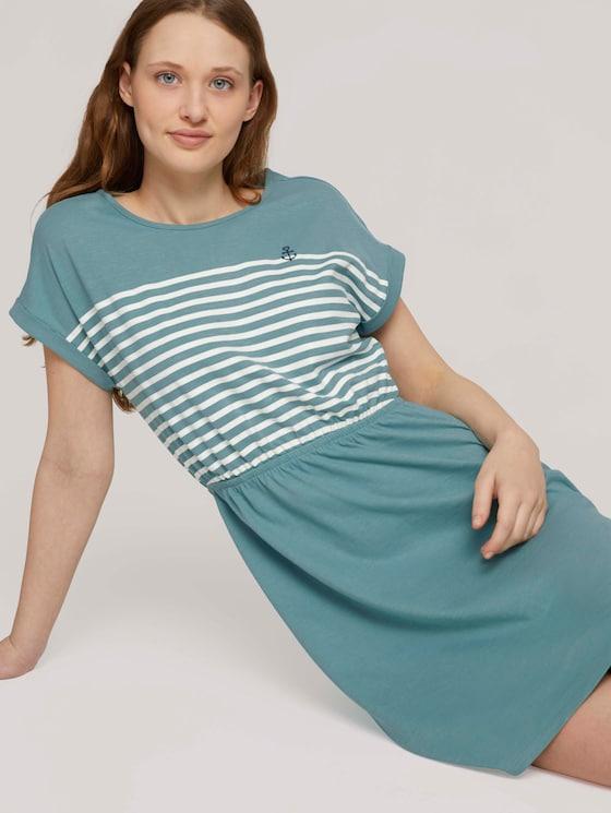 Jersey Minikleid - Frauen - Mineral Stone Blue - 5 - TOM TAILOR Denim
