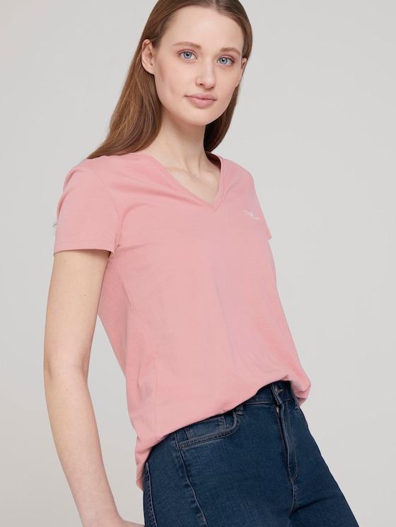 T-Shirt mit Bio-Baumwolle  - Frauen - cozy rose - 5 - TOM TAILOR Denim