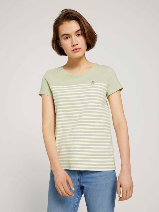 T-Shirt aus Bio-Baumwolle - Frauen - light dusty green - 5 - TOM TAILOR Denim