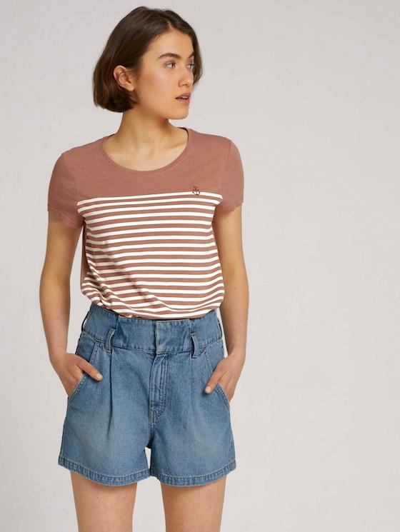 T-Shirt aus Bio-Baumwolle - Frauen - clay rose - 5 - TOM TAILOR Denim