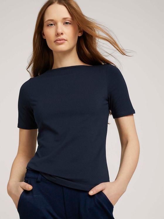 Basic T-Shirt mit Bio-Baumwolle - Frauen - Sky Captain Blue - 5 - TOM TAILOR Denim
