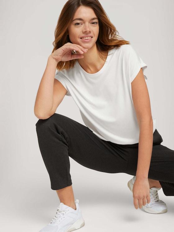 Fließendes Basic T-Shirt - Frauen - Gardenia White - 5 - TOM TAILOR Denim