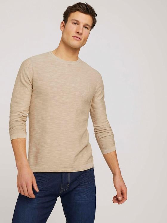 Sweatshirt mit Waschung - Männer - Sandy Beige - 5 - TOM TAILOR