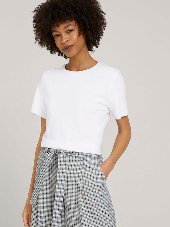 Basic T-Shirt mit Bio-Baumwolle - Frauen - White - 5 - Mine to five