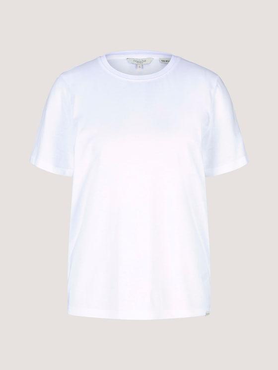 Basic T-Shirt mit Bio-Baumwolle - Frauen - White - 7 - Mine to five