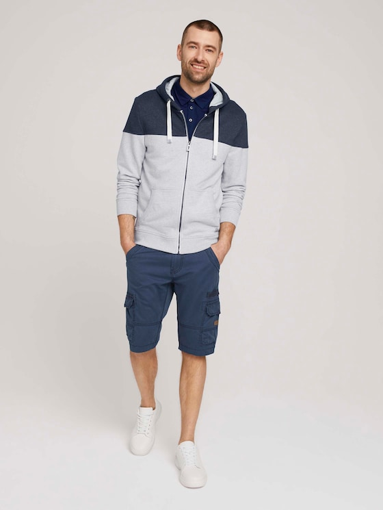 Cargo Bermuda Shorts - Männer - Sailor Blue - 3 - TOM TAILOR