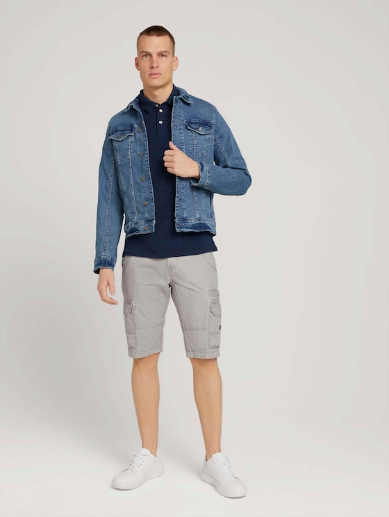 Cargo Bermuda Shorts - Männer - Pebble Stone - 3 - TOM TAILOR