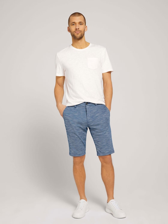 Jersey Chino Bermuda Shorts - Männer - blue zig zag structure - 3 - TOM TAILOR
