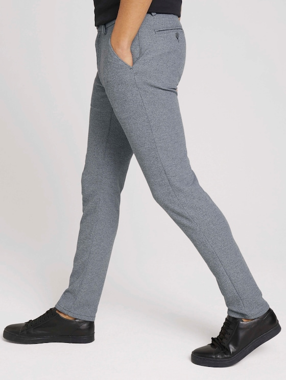 Travis Slim Jersey Hose - Männer - grey melange structure - 11 - TOM TAILOR